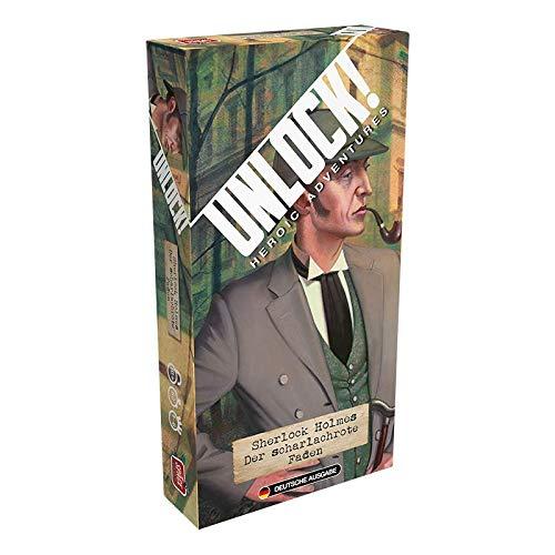 Asmodee Unlock! - Sherlock Holmes: Der scharlachrote Faden, Kennerspiel, Rätselspiel, Deutsch