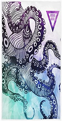 Toalla de Cara Animal Abstracto Pulpo Tentáculos Absorbente Suave Toallas para secar a Mano Trapo de Cocina Toalla Hogar SPA Playa Gimnasio Baño Toalla de Yoga