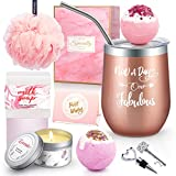 Yorktend Not a Day Over Fabulous Tumbler - Fun Birthday Gifts for Women - Funny Birthday Gifts Ideas for Her, Friend BFF, Mom, Grandma, Wife, Daughter, Sister, Aunt, Coworker