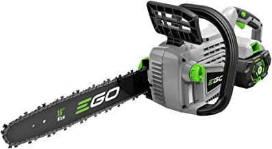 EGO Power+ CS1604 16-Inch 56-Volt Lithium-ion Cordless Chainsaw – 5.0Ah Battery and..