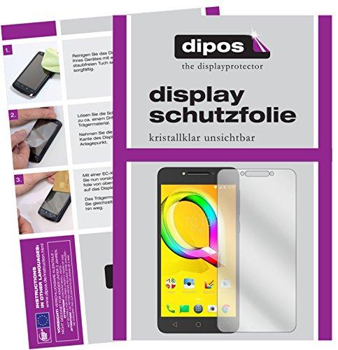dipos I 2X Schutzfolie klar kompatibel mit Alcatel A5 LED Folie Bildschirmschutzfolie