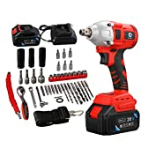ARTIZLEE Cordless Impact Wrench Brushless Motor 320 Nm Max Torque, 20V 4.0 AH Battery with Fast Charger,3 Speed Switch, Multifunction, 44 Accessories with Tool Box