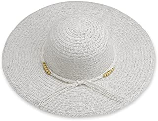 Debra Weitzner Beach Straw Floppy Hat for Women Wide Brim - Sun Protection - Packable Foldable Summer Sun hat for Ladies
