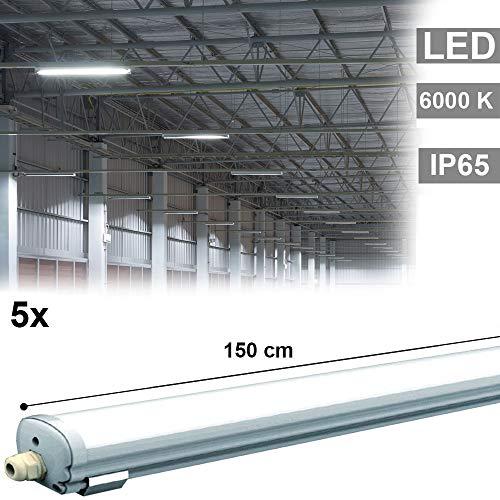 5x 48W LED Wannen Leuchten Tages-Licht Decken Lampen Industrie Lager Hallen Garagen Beleuchtung