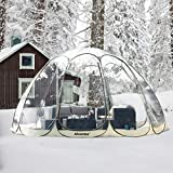 Alvantor Winter Screen House Room Camping Tent Canopy Gazebos 12-15 Person for Patios, Large Oversize Weather Pod, Premium Greenhouse Instant Pop Up Tent, Snow and Rain Protection Beige 15'×15'