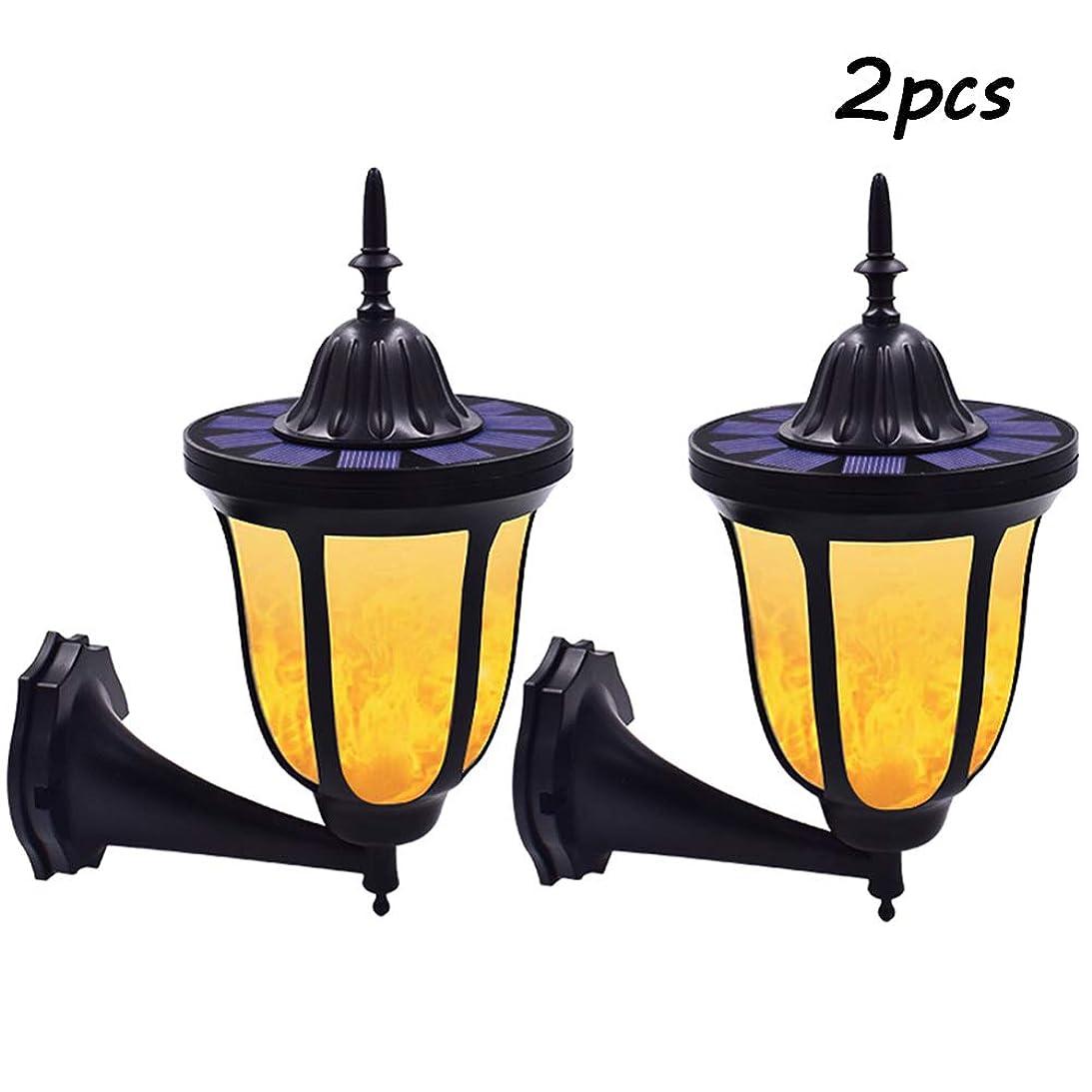 差別的パドル許容96 LEDダンス炎ソーラーライト屋外ガーデン庭ヴィラ光センサー最新設計のための防水壁照明ランプ