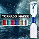 Waitahug Educational Experiment Science Toy Watertight Metal Tornado Connector Cyclone Tube, no Leak, Vortex Tornado Tube Connection Toy with Empty Bottles Suitable for Toys 4-12 Years Old (Blue)