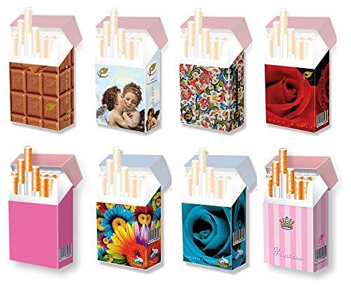 8 Karton Zigarettenschachtel ÜBERZIEHER Hülle FÜR 20er Schachteln/L-Schachteln/Hülle Zigarettenschachtel 8er Set/ausgesuchte Designs für Frauen