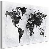 decomonkey   Mega XXXL Bilder Weltkarte   Wandbild Leinwand 170x85 cm Selbstmontage DIY Einteiliger XXL Kunstdruck zum aufhängen   Landkarte Welt