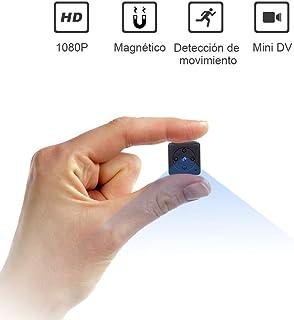 Mini Camara Espia Oculta Videocámara, NIYPS 1080P HD Cámara Vigilancia Portátil Secreta Compacta con Detector