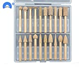 Anncus 20pcs/Box Diamond Griding Head Dia Abrasive Bit Polishing Cone Shape Point - (Mesh:...