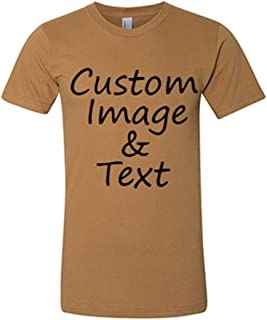Customized Shirts American Apparel Brand Custom Tee Put Your Photo and Text Custom Image Text Front and Back