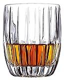 Glaskaraffe 4 STÜCK Mode Whisky Gläser for Heimstange Bierwasser und Partyhotelhochzeit, Kristall Weinglas for Scotch Whisky, Bourbon, Cocktails, RUM, Dauerhafte Whisky-Gläser. Karaffe ( Color : M )