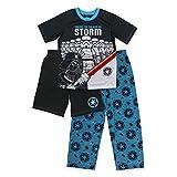 Boys Lego Star Wars Pajamas - 3-Piece Short Sleeve Pajama Set with Shorts (Multicolor, S-6/7)
