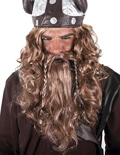 PARTY FIESTA Peluca Vikingo Maxi Barba Bigote