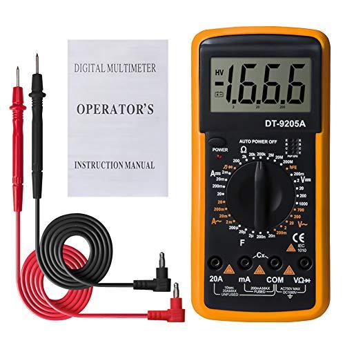 Gogdog DT9205A Digital Multimeter LCD Handheld AC DC Automatic Range Multimeter Ammeter Ohmmeter Capacitance Resistance Meter