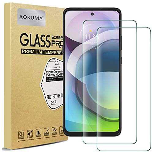 Vetro Temperato Motorola Moto G 5G, AOKUMA [2 Pezzi] Pellicola Protettiva Motorola Moto G 5G Vetro Temperato Antiurto Antigraffio e Anti-impronta, Durezza 9H, Compatibile con Cover