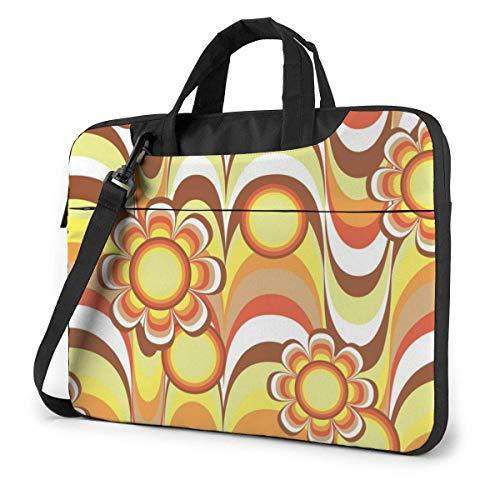 DJNGN Laptop Shoulder Bag Laptop Case 13 Inch, Sun Flower Design Computer Sleeve Cover, Business Briefcase Protective Bag