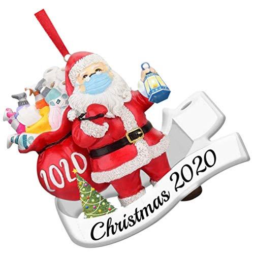 KESYOO Enfeite de Papai Noel Natal de 2020 Resina Papai Noel Natal Pendente da Árvore de Natal Férias Penduradas Decorações para a Festa de Natalestilo aleatório