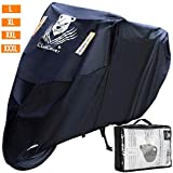 ClawsCover 104 Inch XXL Motorcycle Cover Waterproof Outdoor All Season Dirt Bike Covers Accessories Rain UV Protection with Lock Hole & Storage Bag for Harley Davidson Honda Kawasaki Yamaha and More