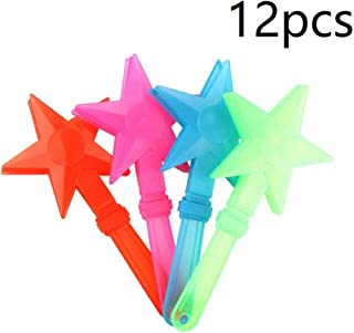 12pcs Star Shape Plastic Hand Clappers LED Applause Maker Noisemakers Toys for Wedding Birthday Party Palm Claps