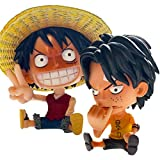 Generisch One Piece Anime Ruffy und Ace Figuren Set