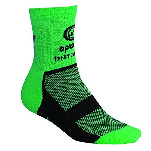 OPTIMUM - Calzini invernali da ciclismo Nitebrite Hi-Viz, unisex, taglia 7-11, colore: Verde fluo