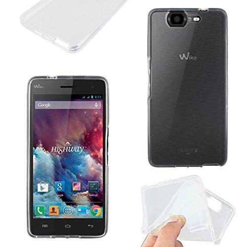 ebestStar - Wiko Highway 4G Hülle Handyhülle [Ultra Dünn], Premium Durchsichtige Klar TPU Schutzhülle, Soft Flex Silikon, Transparent [Phone: 144 x 70 x 7.3mm, 5.0'']
