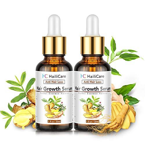 Haarwachstum Serum, HailiCare Haar-Behandlung, Anti-Haarausfall Haarserum für stimuliert und Haarwurzeln Stärken für Volleres und schneller wachsenden Haar für Frauen und Männer (2X30ML)
