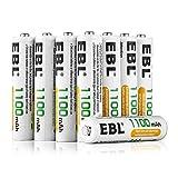 EBL AAA Batterie Ricaricabili con 1200 cicli,Pile Ricaricabili da 1100mAh Ni-MH con Comodo Astuccio,Confezione da 8 pezzi