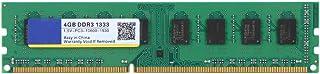 Tangxi Memoria RAM DDR3, DDR3 4GB Meomory 1333MHz PC3-10600 1.5V 240Pin, Memoria de Escritorio Placa Base, Compatible para computadora de Escritorio