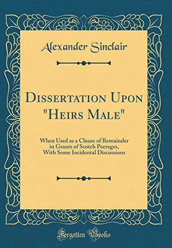 Dissertation Upon
