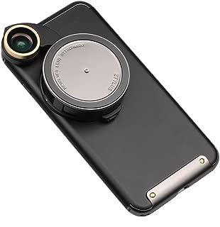 Ztylus 4 in 1 iPhone 8 Plus / 7 Plus Revolver Lens Smartphone Camera Kit: Super Wide Angle, Macro, Fisheye, CPL, Protective Case, Phone Camera, Photo Video (Gunmetal)