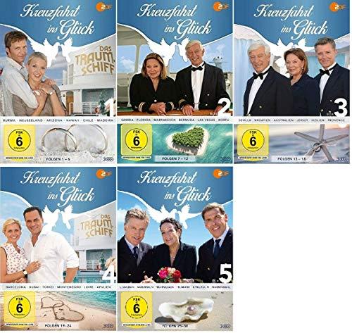 Kreuzfahrt ins Glück Box 1-5 (1+2+3+4+5, 1 bis 5) Folge 1-30 [DVD Set]