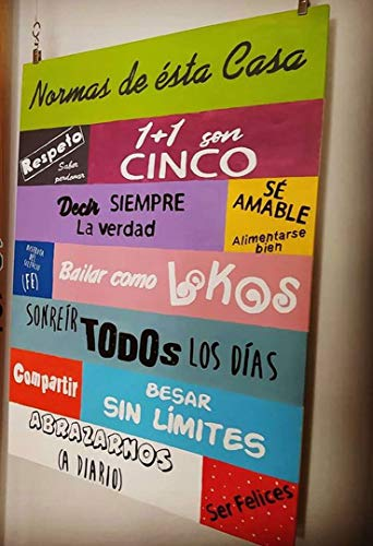 Cartel con frases motivadoras Cuadro Frases/Frases positivas/Cuadro Madera/Regalo/Normas del hogar/Normas de la casa/Carteles Vintage/Rusticos