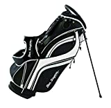 Ben Sayers Unisex's DLX Stand Bag, Black/White, 8.5-Inch