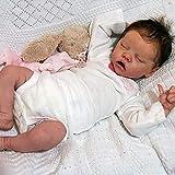 FFKL VIIPOO Wiedergeborene Baby-Puppe, Weiches Vinyl, Silikon, Realistische Baby-Puppe, Realistische Reborn-Puppe, Für Mädchen, Handgemachte, Echte Puppe Für Neugeborene,A