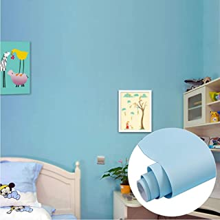 Yenhome Matt Blue Vinyl Contact Paper for Cabinets Kitchen Decor Self Adhesive Shelf Liner Waterproof Peel and Stick Wallpaper for Bedroom Wall Decals Living Room Decor 60cm x 5m