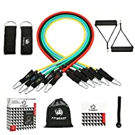 【Comfortable and Durable】: FitBeast resistance bands set uses premium quality natural latex which is eco-friendly, durable and highly elastic. It prevents the band from snapping and deforming after over 30,000 times of conventional stretching. The hi...