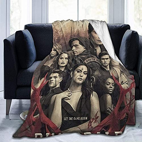 Riverdale Season 3 Regalos para mujeres Mantas de bebé calientes, para sofá, cama, sala de estar, durable decoración del hogar manta de franela para adultos y niños 60 x 50 pulgadas