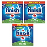 Finish All In 1 Powerball Dishwasher Detergent Tablets, Fresh, 85 Count - Pack of 3