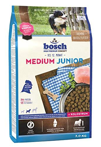 bosch HPC Medium Junior | Hundetrockenfutter zur Aufzucht mittelgroßer Rassen | 1 x 3 kg
