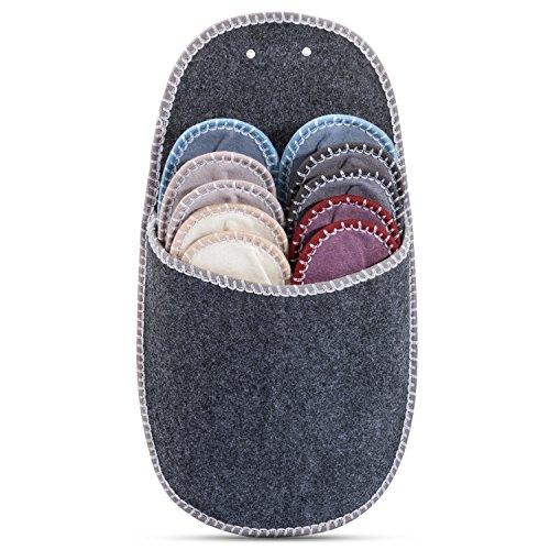 ONVAYA Zapatillas de invitados | conjunto de 5 | Zapatilla de fieltro | Gris grey