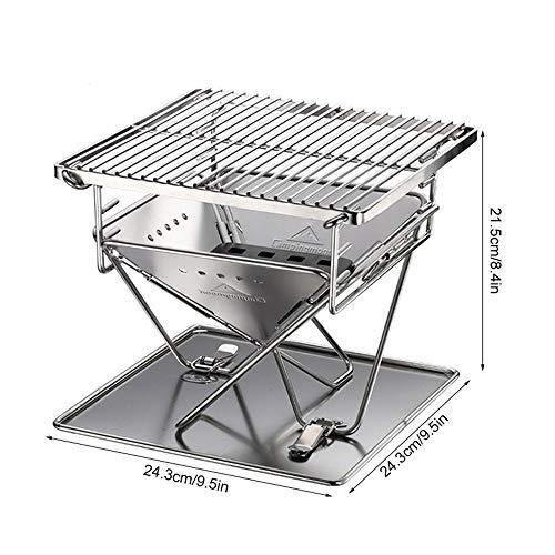 51Ew8vMBGTL. SL500  - Wzz Tragbare Edelstahl BBQ Grill Klapp Grill Im Freien Grill Camping Picknick Grill Werkzeug Grill Zubehör