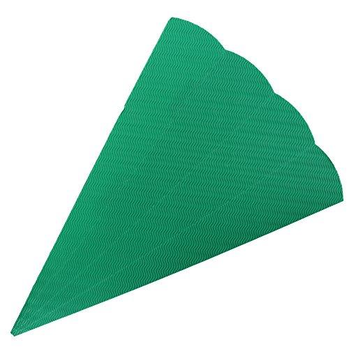 Goldbuch Bastelschultüte 6-eckig, Rohling zum Selbsgestalten, Mit Steckverschluss zum Zusammenstecken, 68 cm, Grün, 97852