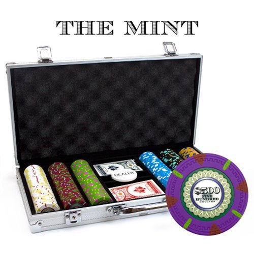 Claysmith Gaming 300-Count 'The Mint' Poker Chip Set in Aluminum Case, 13.5gm