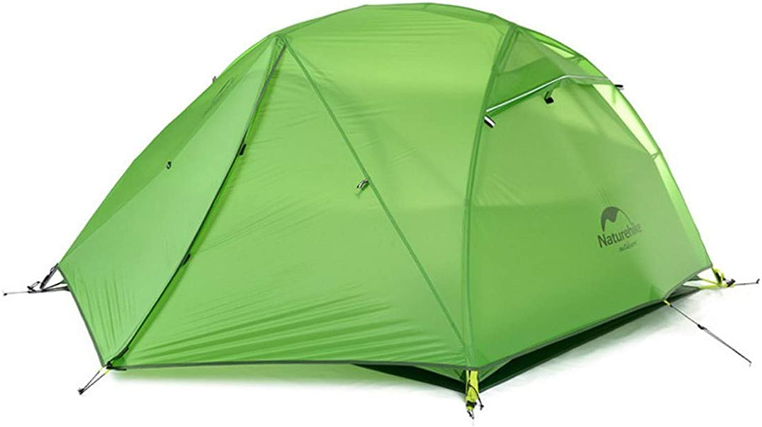 Silica Gel Double Decker Light Rain Proof Camping Tent MATCHANT (color   Green)