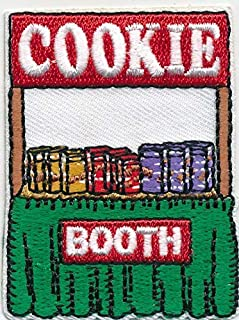 Girl Cookie Booth Curtain Fun Patches Crests Badge Scouts Guides Sale Iron On