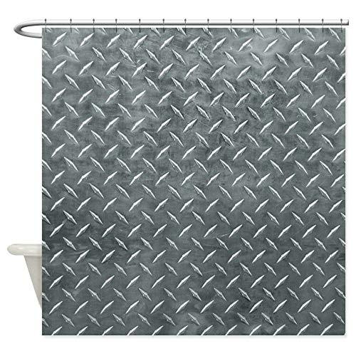 dsgrdhrty CafePress graue Rautenmuster Badezimmer Duschvorhang dekorativen Stil wasserdicht 180x180