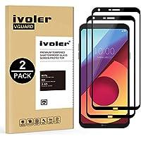 ivoler [2 Unidades] Protector de Pantalla para LG Q6 / LG Q6+ / LG Q6 Plus, [Cobertura Completa] Cristal Vidrio Templado Premium, [Dureza 9H] [Anti-Arañazos] [Sin Burbujas]